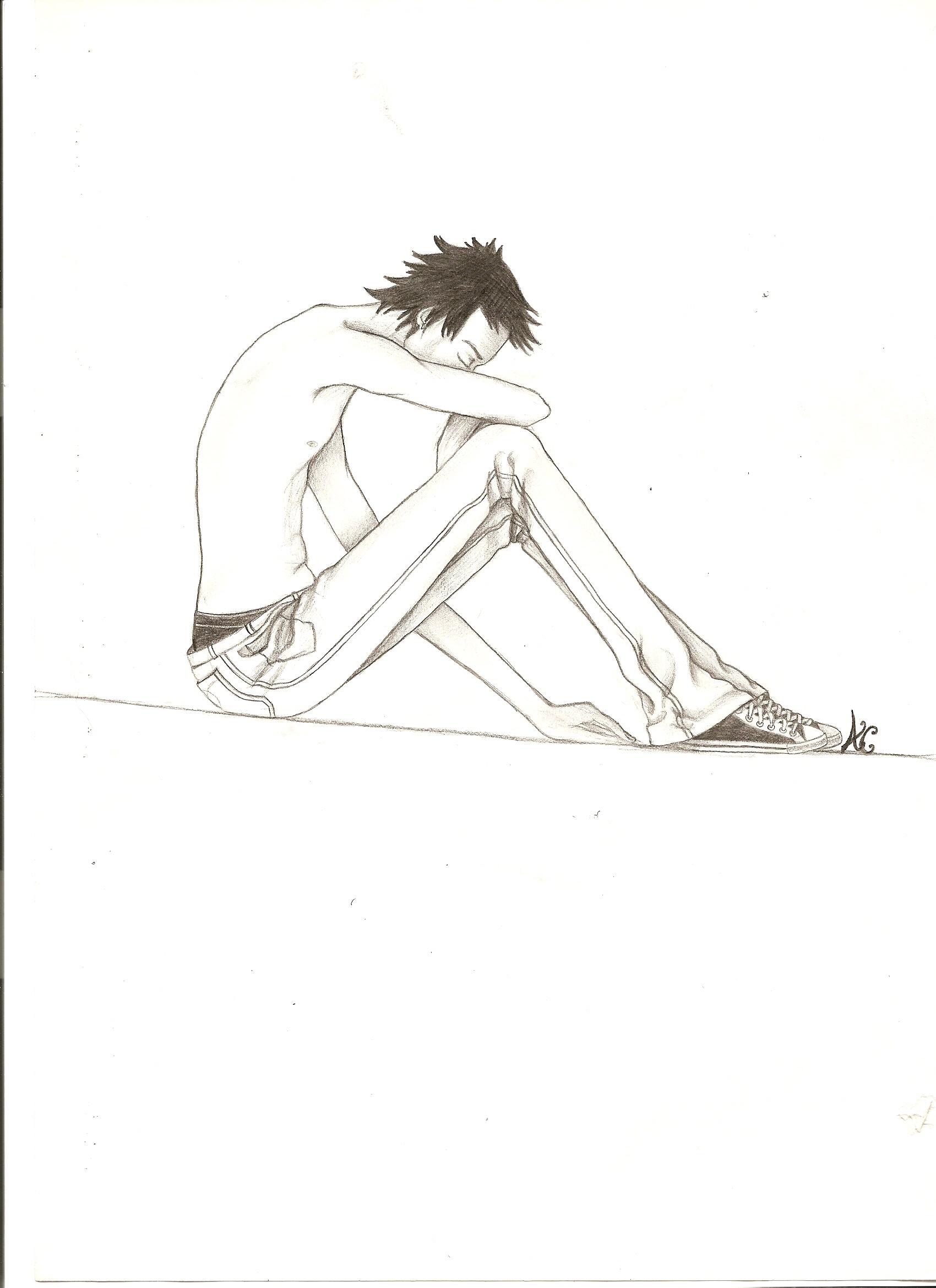comment dessiner un homme assis